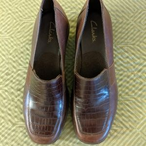 Clarks Loafers Brown Size 8.5 UpperM Leather